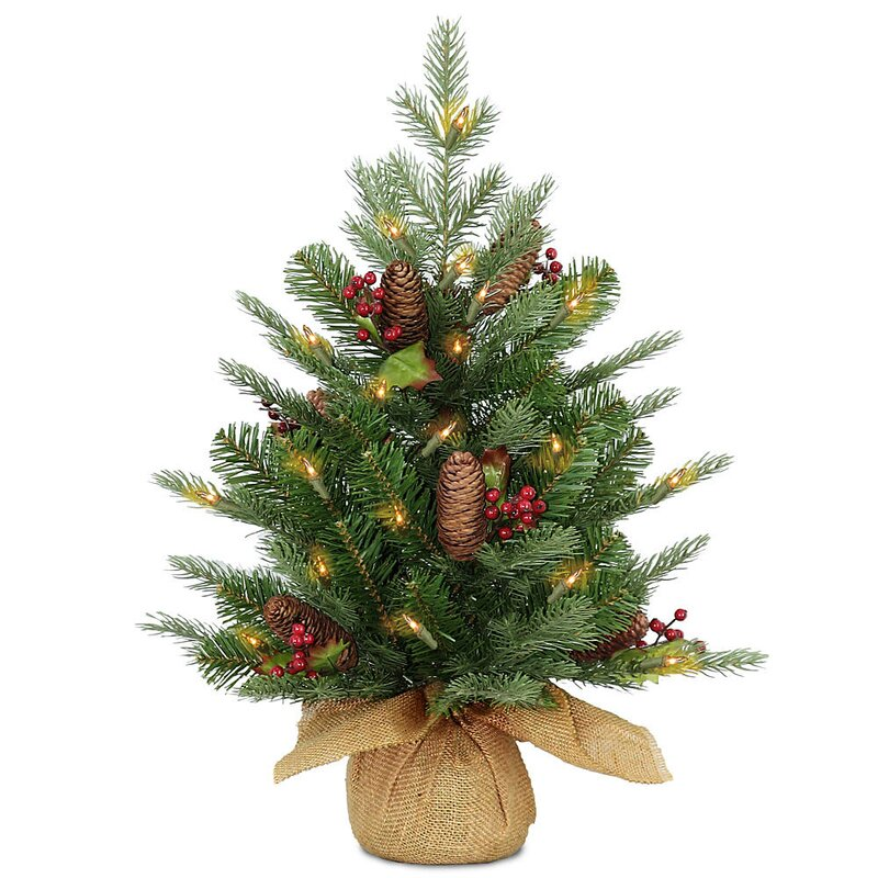 24 green spruce artificial christmas tree with 50 led white lights - Christmas Tree White Lights