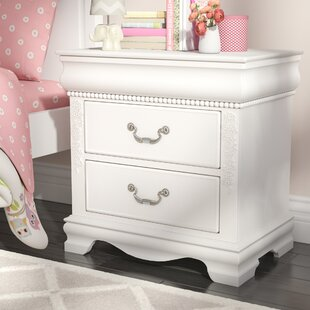 Read Reviews Theo White 2 Drawer Nightstand ByViv + Rae