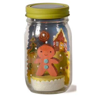 Affordable Gingerbread Mason Jar Solar Night Light By Tree by Kerri Lee