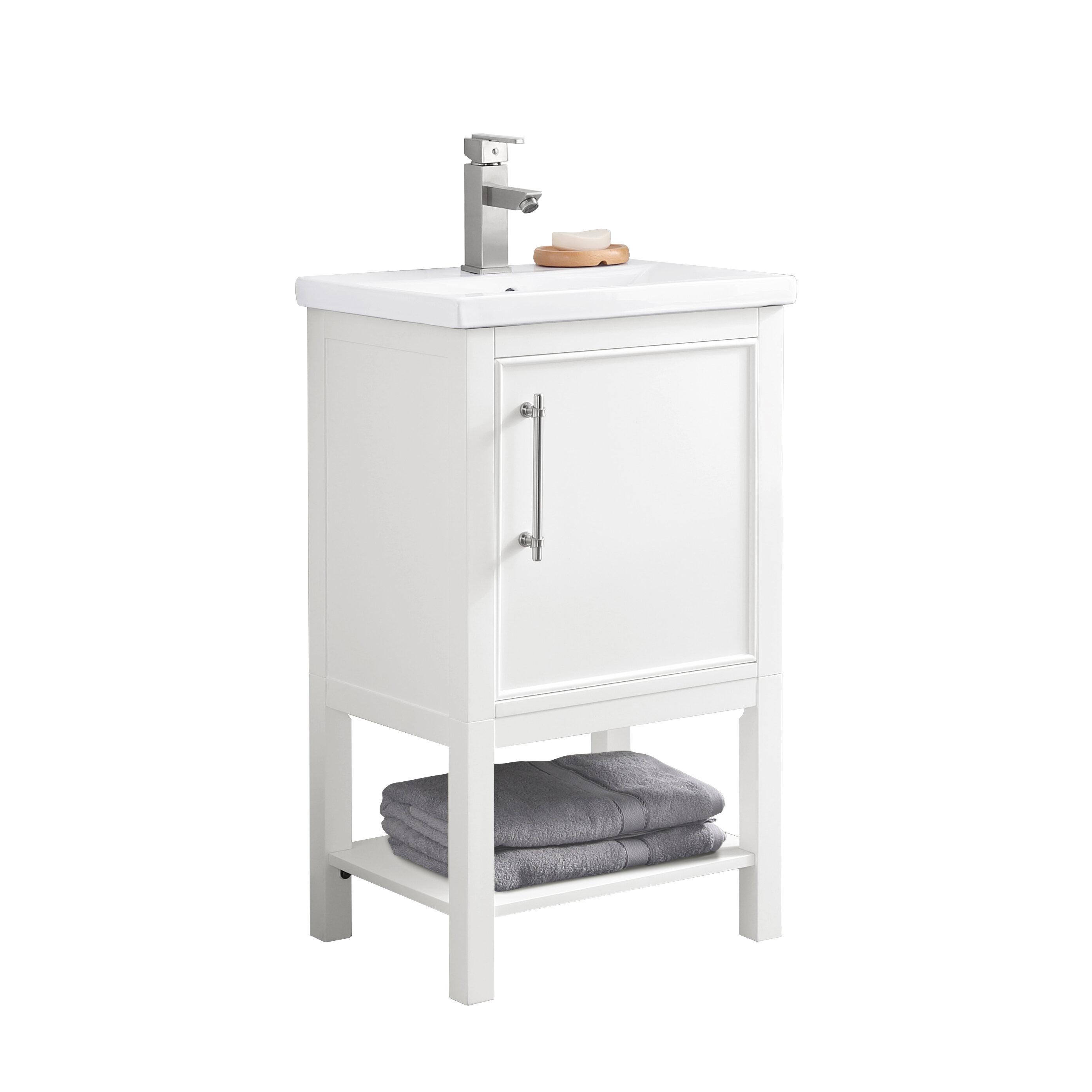 Coastal Farmhouse Jewell 20 Single Bathroom Vanity Set Reviews Wayfair