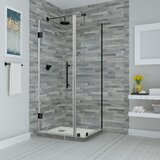 Bromley Frameless 29.25 x 72 Rectangle Hinged Shower Enclosure by Aston
