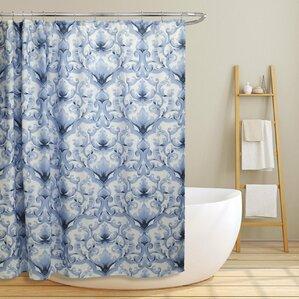 Newland Scroll Damask Shower Curtain