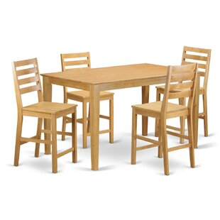Smyrna 5 Piece Counter Height Pub Table Set Charlton Home