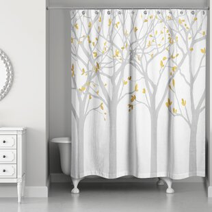 Hofstetter Tree Silhouettes Shower Curtain ByRed Barrel Studio