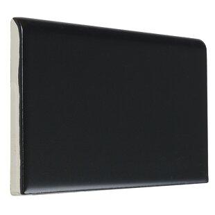Guilford 6 X 3 Ceramic Bullnose Tile Trim In Matte Black