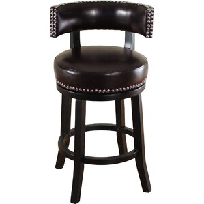Cyril 26  Swivel Bar Stool  sc 1 st  Wayfair & Leather Bar Stools Youu0027ll Love | Wayfair islam-shia.org