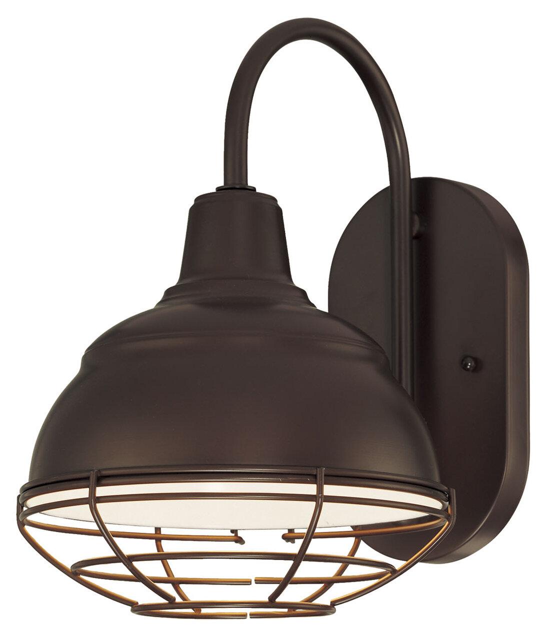 Fitzhugh Modern 1 Bulb 11 5 H Outdoor Barn Light Reviews
