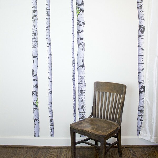 Super Real Birch Wall Decal & Walls Need Love Super Real Birch Wall Decal u0026 Reviews | Wayfair