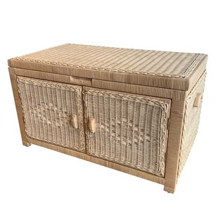 Best Reviews Joseph Wicker Double Open Wood Lined Trunk By Bayou Breeze