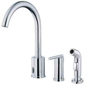 Danze? Parma Touchless Single Handle Deck Mount Kitchen Faucet with Spray
