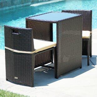 Find the perfect Guion 3 Piece Conversation Set with Cushions Great Price