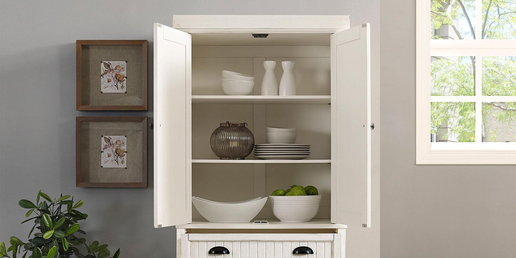 Kitchen Storage With Coastal Cottage Charm