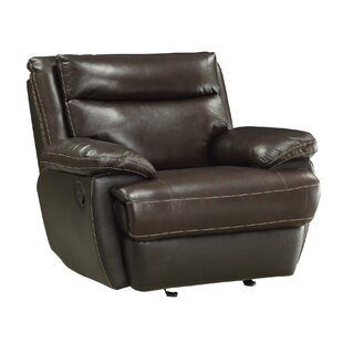 Hughes Leather Manual Glider Recliner by Red Barrel Studio Best