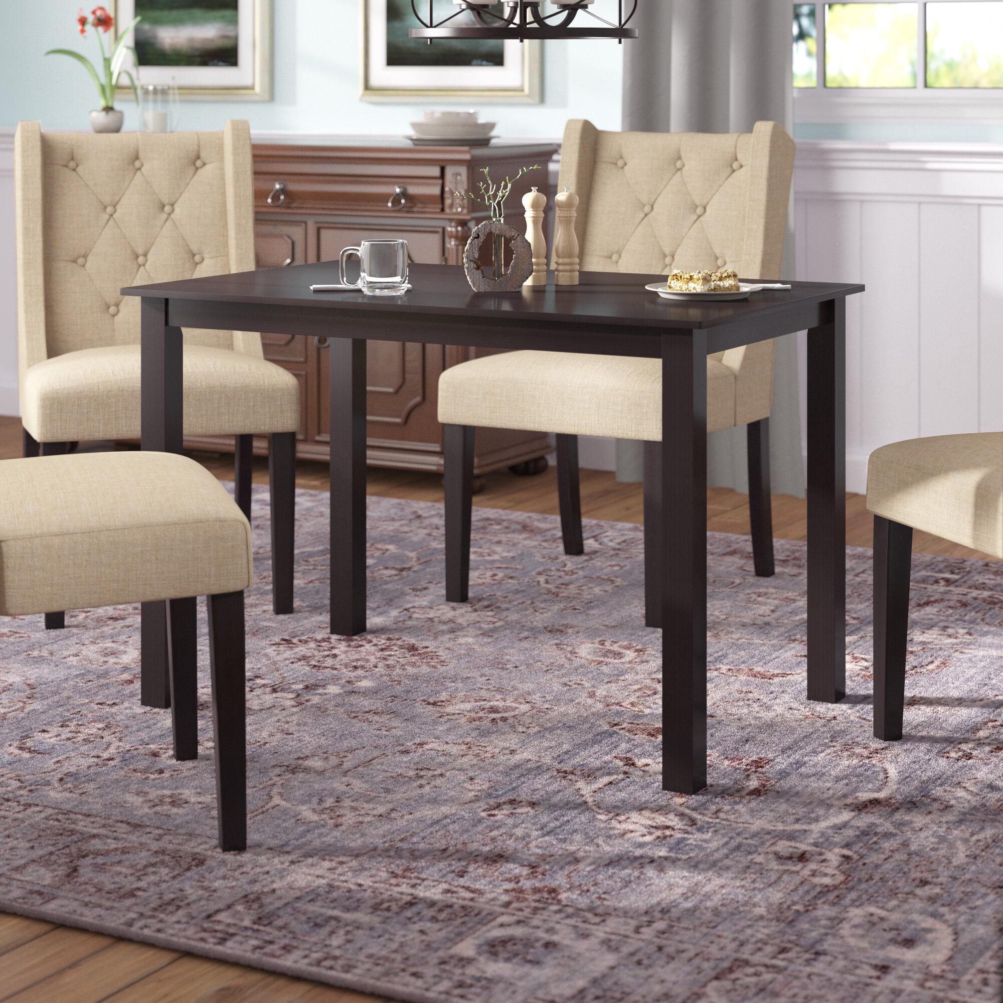 Winston porter douglas solid wood dining table reviews wayfair