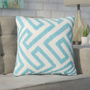 Swinford Geometric Square Outdoor Throw Pillow (Set of 2)