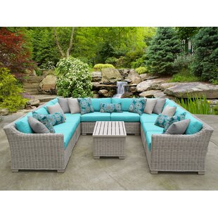 Coast 11 Piece Sectional Seating Group with Cushions
