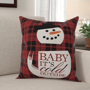 Waldo Baby It's Cold Outside Snowman Throw Pillow