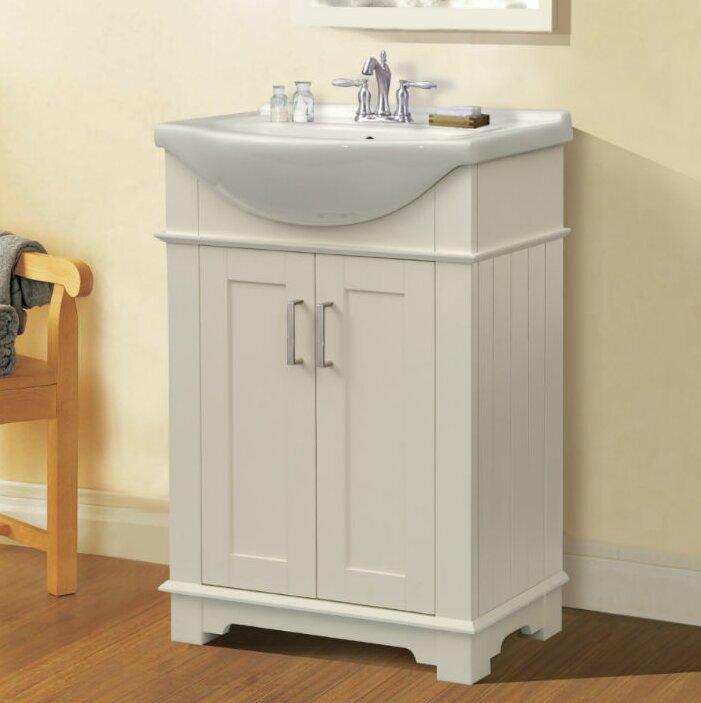 """Bathroom Sinks Ireland zipcode design ireland 24"""" single bathroom vanity set & reviews"""