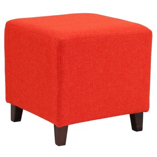 Tade Upholstered Cube Ottoman By Ebern Designs