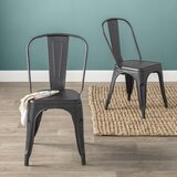 Carriage Hill Metal Slat Back Side Chair (Set of 2) by Laurel Foundry Modern Farmhouse