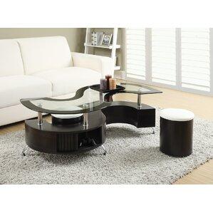 Glass Coffee Table Sets You\'ll Love | Wayfair