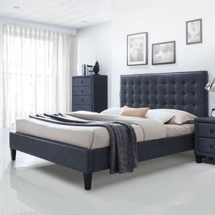 Bodnar PU Upholstered Platform Bed by Wrought Studio