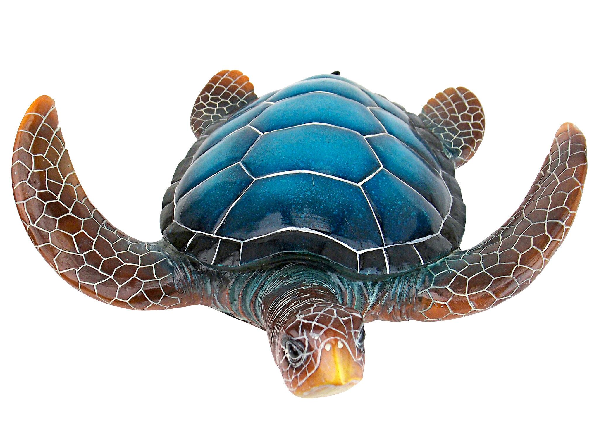 Turtle sea ocean outdoor wild Mailbox topper statue