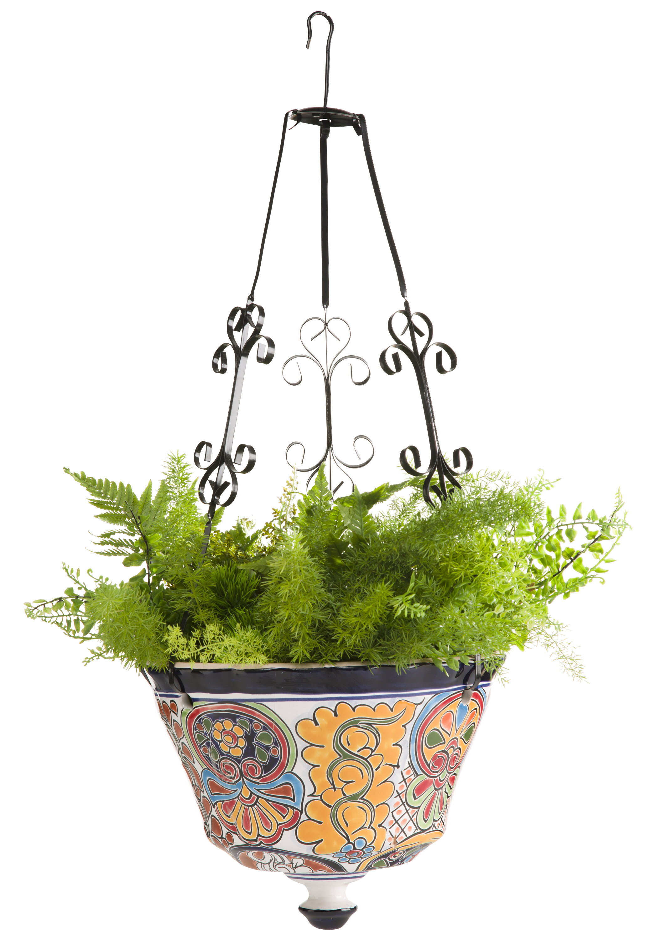 of classic p round pot stand arizona in planter planters plant ceramic mexican talavera the clay pottery b ravenna