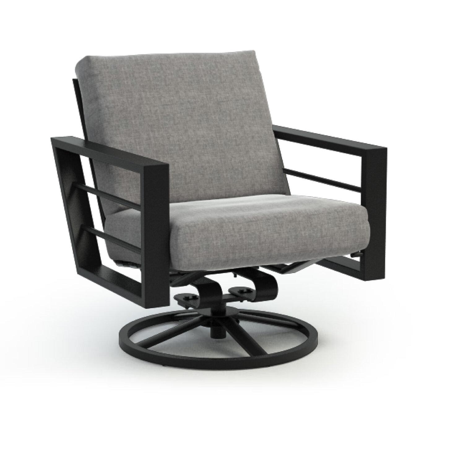 Low Back Rocker Chat Swivel Patio Chair