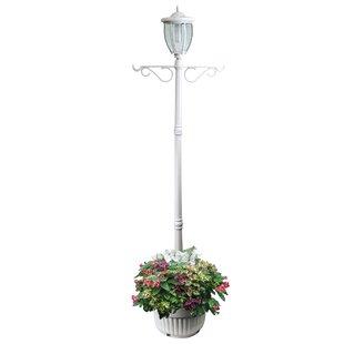 Outdoor solar lamp post lights wayfair beckwood solar lamp 1 light 84 post light workwithnaturefo