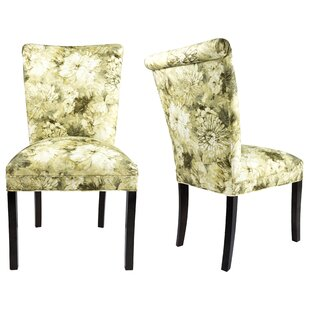Roll Back Spring Upholstered Side Chair (Set of 2) Sole Designs