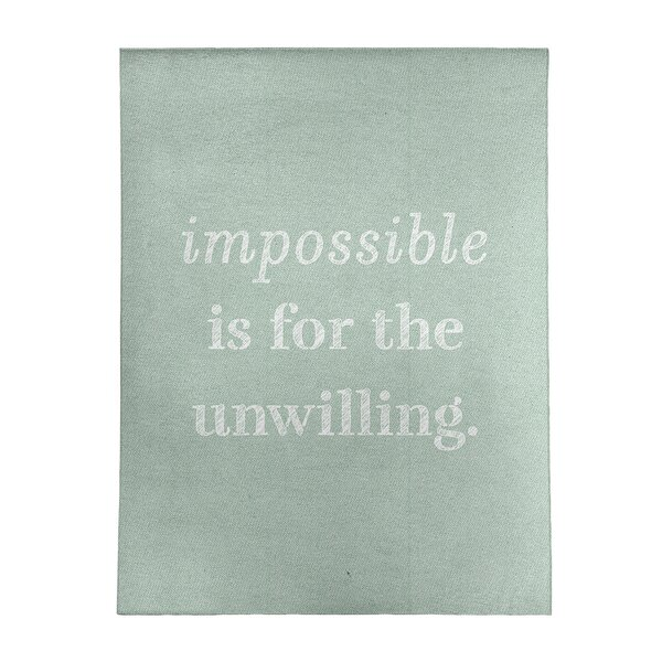 East Urban Home Handwritten Impossible Quote Poly Chenille Rug Wayfair