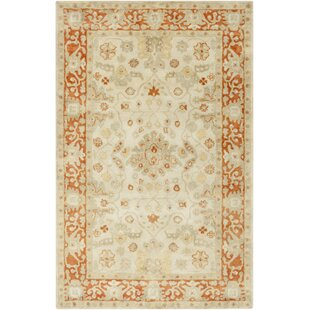 Barkbridge Beige/Tangerine Oriental Rug by Darby Home Co