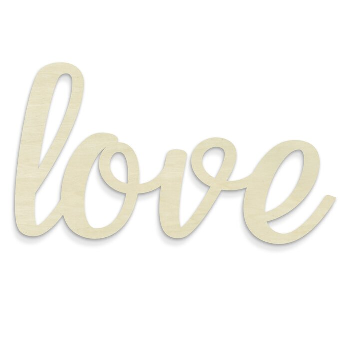 Huge Cursive Word U0027Loveu0027 Wall Décor