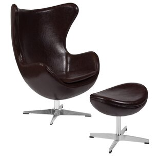 Violeta Swivel Lounge Chair and Ottoman