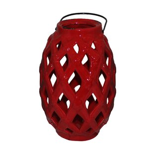 Order Ceramic Lantern with Handle By Bloomsbury Market
