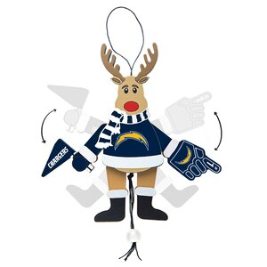 NFL Wooden Cheering Reindeer Ornament