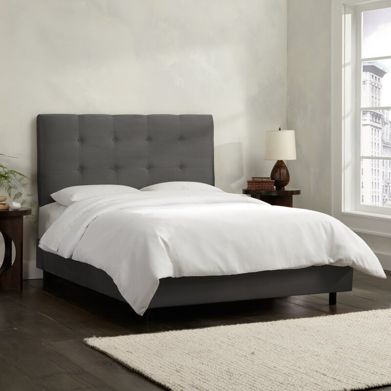 bcd96892ffd4 Skyline Furniture Double Button Tufted Upholstered Panel Bed