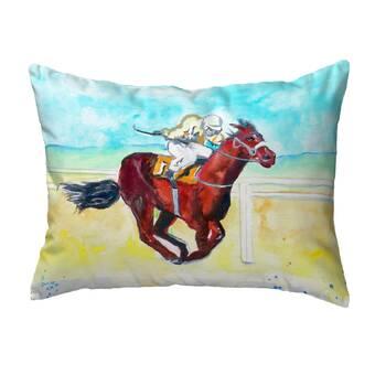 Betsy Drake Interiors Carriage And Horse Indoor Outdoor Lumbar Pillow Wayfair