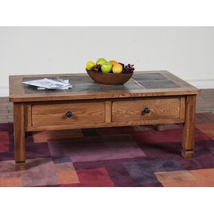 Fresno Coffee Table With Slate Top by Loon Peak Great Reviews
