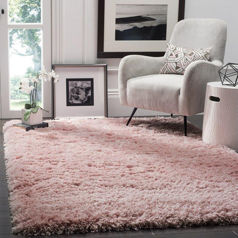 Willa Arlo Interiors Hermina Light Pink Area Rug & Reviews   Wayfair