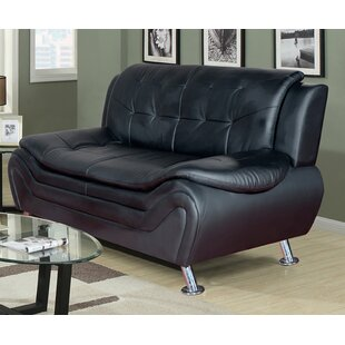 Crocker Leather Sofa by Orren Ellis