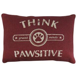 Pawsitive Tapestry Decorative Lumbar Pillow