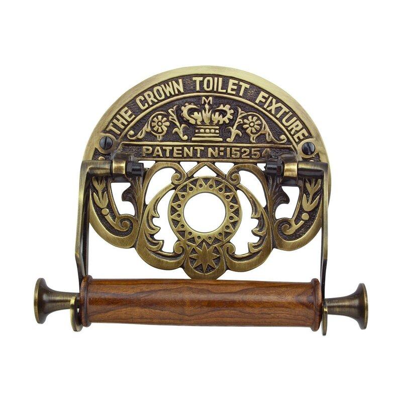 "TOWEL RACK BAR ornate cast iron black floral antique design 19/"" bathroom wall"