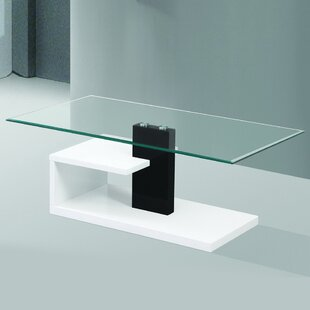 Modern Tempered Glass Coffee Table Fab Glass and Mirror