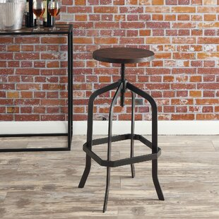 Ellesmere Adjustable Height Bar Stool by Williston Forge