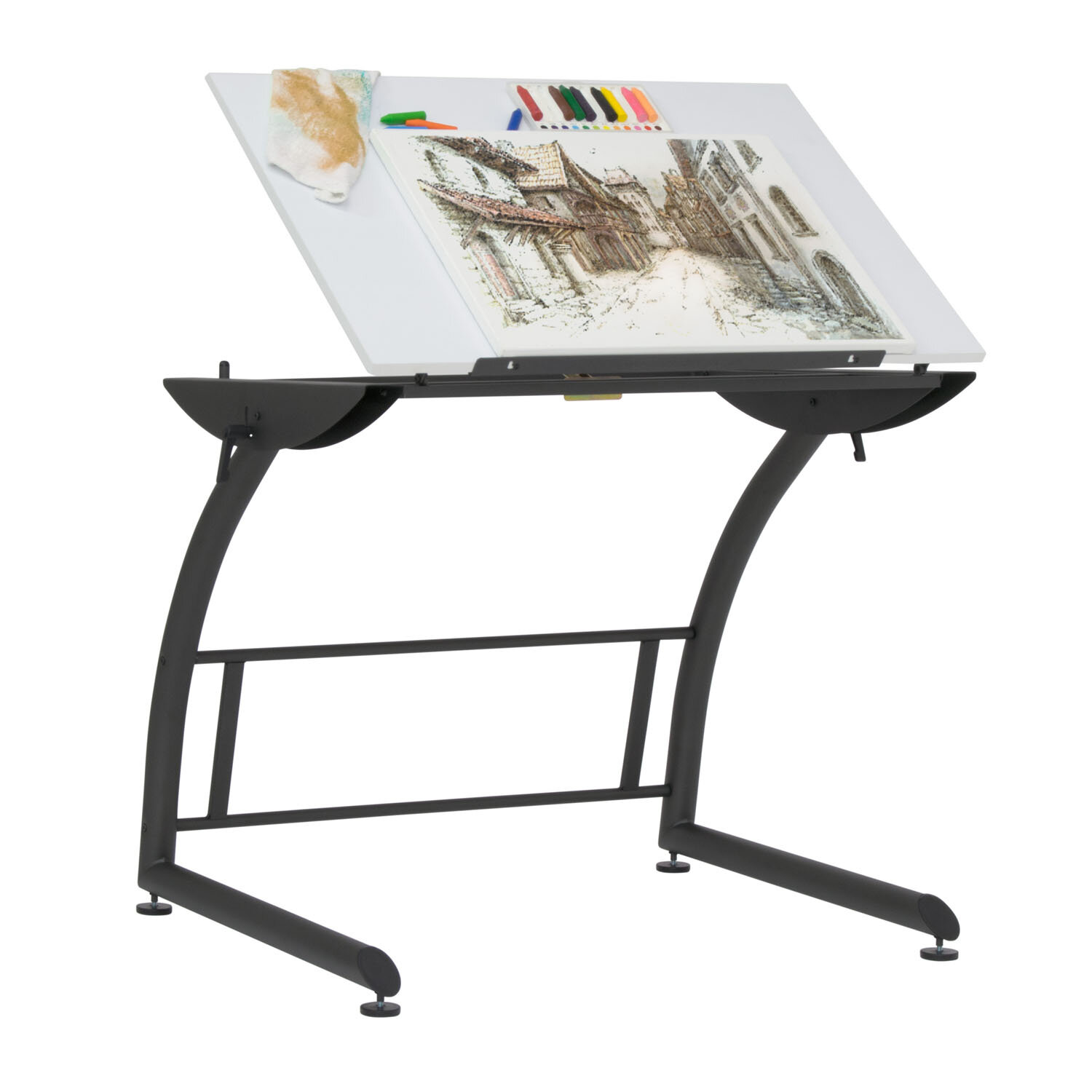 Offex Triflex Standing Height Adjustable Sewing Table Wayfair