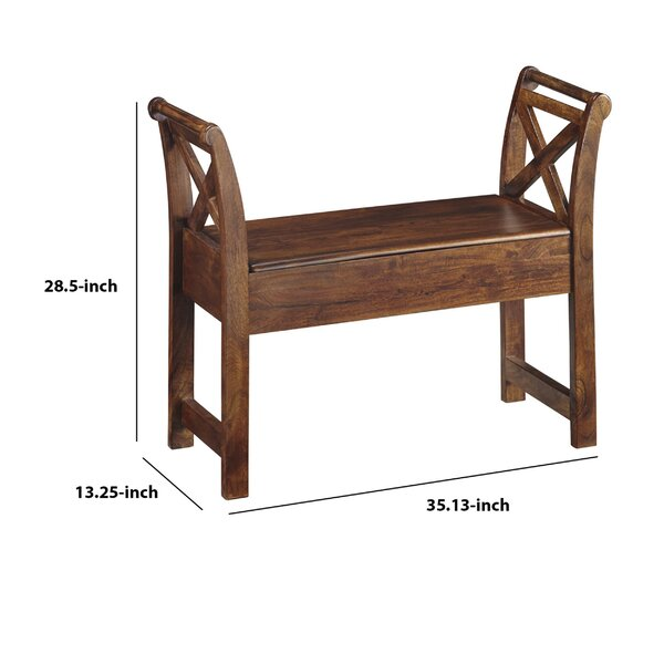 Gracie Oaks Ludvig Wood Flip Top Storage Bench | Wayfair