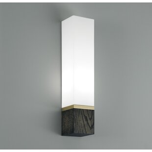 Best Reviews Cube 1-Light Tall Wall Sconce By ILEX Lighting