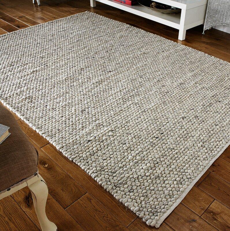 sommerallee handgewebter wollteppich armand in grau. Black Bedroom Furniture Sets. Home Design Ideas